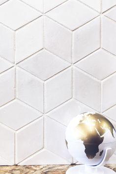 White Kitchen Backsplash, Hexagon Backsplash, Kitchen Tiles, Geometric Tiles, Mosaics, Mercury, Diamonds, Chevron Patterns, Tiling