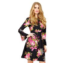 ANNIVERSARY FLORAL DRESS: Betsey Johnson