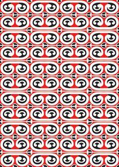 The Contemporary Maori Inspired Pattern Work of Mitch Manuel Maori Patterns, Textile Patterns, Print Patterns, Textiles, Weaving Patterns, Textile Design, Maori Designs, Geometric Designs, Chris Garver