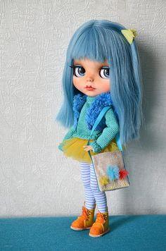Shopper bag for Blythe doll. Dolls accessories. Crossbody bag
