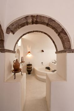 Mediterranean Living - okay so this is really cool because I think the arch looks like a Roman Helmet