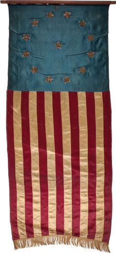 American Pillow Vintage American Flag Colonial Stars