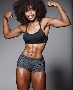 Girl Abs, Fit Black Women, Abs Women, Black Fitness, Pretty Black Girls, Military Girl, Muscular Women, Muscle Girls, Transformation Body