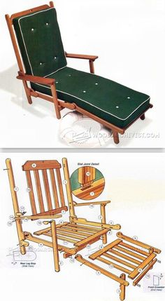 Deck Chair Plans - Outdoor Furniture Plans and Projects | WoodArchivist.com