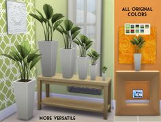 Smaller Vaaas Palm by OM at Sims 4 Studio via Sims 4 Updates