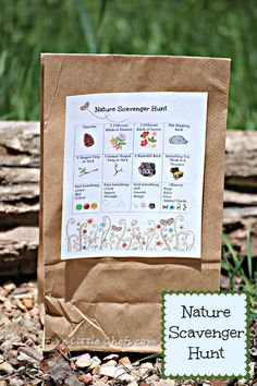 Printable Nature Scavenger Hunt- I can't wait for warmer weather! Outdoor activities are a great way to bring a family together in fun!