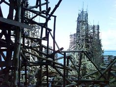 "Ladonia, a micronation made up of driftwood, nails, and nine-story wooden ""fortresses"" located in the southwest corner of Sweden. Designed by Lars Vilks"