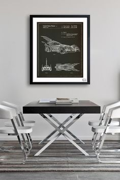 Oliver Gal Batmobile 1996 Framed Art Print by Geek Chic: Technical Drawings on @HauteLook $129 26x32