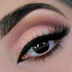 A less dramatic version of this. Eyeshadow in the crease, liquid liner, and a little bit of sparkle. This could work for everyone! Kiss Makeup, Prom Makeup, Love Makeup, Wedding Makeup, Makeup Tips, Beauty Makeup, Makeup Looks, Hair Makeup, Hair Beauty