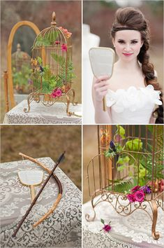"""""""Hunger Games"""" Wedding Style (This is an example, not real wedding pictures.) I'd never do this, but some of the ideas are quite pretty. :)"""