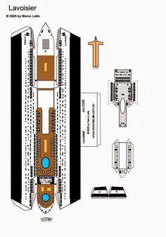 Molde de navio para maquete