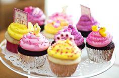 cha bebe rosa amarelo pitada lilas