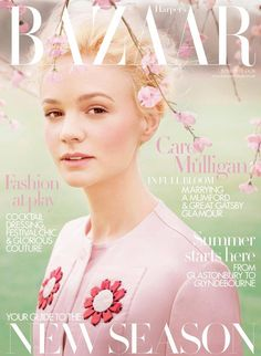 Carey Mulligan looking stunning on the cover of this month's British Vogue.....