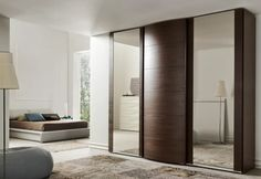 Sliding mirror wardrobe doors 2019 are very functional and stylish. It can be suitable in any type of house regardless if it is modern or old style house. Sliding Mirror Wardrobe Doors, Sliding Door Wardrobe Designs, Diy Closet Doors, Modern Sliding Doors, Wardrobe Design Bedroom, Closet Designs, Bedroom Decor, Bedroom Cupboards, Dressing Room