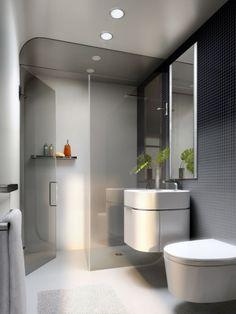 minimalistisches weies badezimmer design mehr sehen baos pequeos - Badezimmer Design Fliesen