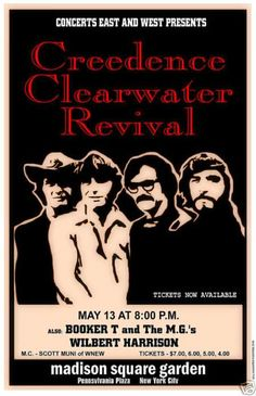 Creedence Clearwater Revival 1970 NYC Concert