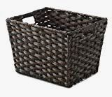 Whitmor Split Rattique Small Tote-Driftwood Brown - Driftwood 4 Us Driftwood Kitchen, Easy Access, Rattan, Totes, Organize, Plastic, Cleaning, Space, Stylish