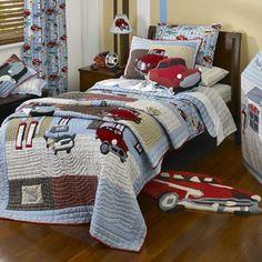 boys bedding/ option for full size bottom bunk ?