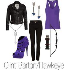 Hawkeye by michelle-geiser on Polyvore  Purple!!