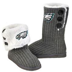 Philadelphia Eagles Women's Button Knit Boots $19.97 http://store.philadelphiaeagles.com/Philadelphia-Eagles-Womens-Button-Knit-Boots-_-1176148763_PD.html?social=pinterest_pfid37-03191