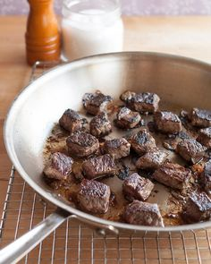 Searing meat is 100% about building flavor. And oh, what flavor it is! When that meat hits a scorching hot pan, the surface instantly begins caramelizing. In your stew or braise or roast, this translates into the kind of deep, savory flavor that we crave on an almost a cellular level. This is the flavor that makes us want to lick our plates clean. No sear, no plate-licking good times. Here's how to do it.