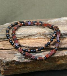 Mens Bracelet  Mans Jewelry  Beaded Bracelet  by StoneWearDesigns...