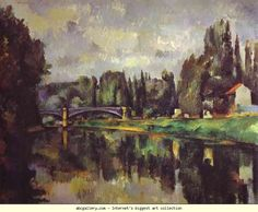 Paul Cézanne. The Banks of the Marne. Olga's Gallery.