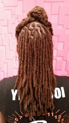 This is the look I want for my locs one day. Dreadlock Styles, Dreads Styles, Dreadlock Hairstyles, Weave Hairstyles, Cool Hairstyles, Fashion Hairstyles, Black Hairstyles, Wedding Hairstyles, Cornrows