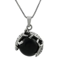 Sterling Silver Black Onyx Ball with Turtles Necklace SilverBin, http://www.amazon.com/dp/B004HZ9RC6/ref=cm_sw_r_pi_dp_ppLpqb1E1JZB3