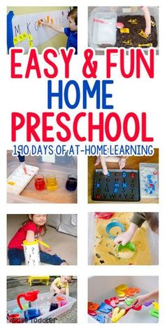 Homeschool Preschool: The Playing Preschool Program - preschoolers are going to love these easy learning activities from Busy Toddler
