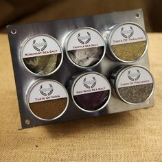 A #seasoning set with magnetic plate, for all your cooking needs; what could be better? #spices #gifts