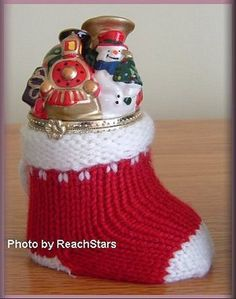 Mr Christmas Music Box Stocking w Porcelain Top | eBay