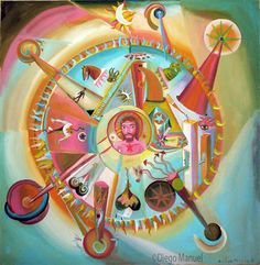 historia del sol 2. Painting of the Serie Surrealism for sale by artist Diego Manuel