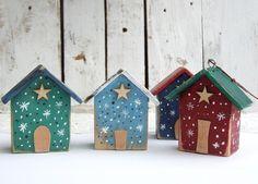 Domki, zawieszki świąteczne - 4 sztuki Bird, Outdoor Decor, House, Home Decor, Room Decor, Haus, Birds, Home Interior Design, Houses