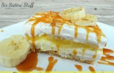 Εύκολο γλυκό ψυγείου με μπανάνες!  Banana Cream Pie Υλικά: 80 τεμ κρακεράκια Αλλατίνη ανάλατα 1/2 φλιτζάνι βούτυρο, λιωμένο 225 γρ τυρί κρέμα 2 φλιτζάνια ζάχαρη άχνη 225 γρ κρέμα γάλακτος 2 φακελάκια άνθος αραβοσίτου με γεύση μπανάνα γάλα όσο αναγράφεται στις συσκευασίες 3 μπανάνες, κομμένες