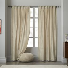 FAVE: Modern Blackout Curtains and Window Drapes | west elm. Gold meets cream.