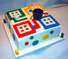 Ludo Birthday Cake - For all your cake decorating supplies, please visit craftcompany.co.uk