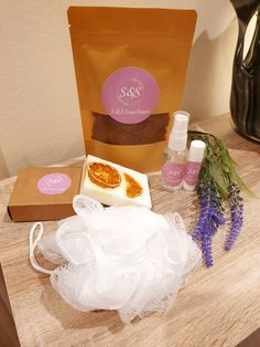The Shower to Bed Gift Box — S&S Soap Sisters Exfoliating Body Scrub, Gift Sets, Lip Balm, Peppermint, Sisters, Soap, Shower, Bed, Handmade