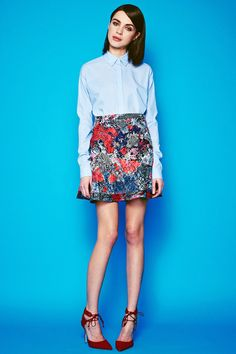 I can't get enough of this #MishaNonoo #NonooNY floral skirt I purchased from her sample sale.
