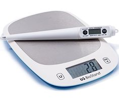 Premium Quality Kitchen Digital Food Scale PLUS a Meat Thermometer from Biostand ** Click image to review more details.