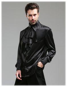 fanplusfriend - Steel Rose, Steampunk Wedding Elegant Gothic Silk Shirt & Jabot*3colors Instant Shipping (http://www.fanplusfriend.com/steel-rose-steampunk-wedding-elegant-gothic-silk-shirt-jabot-3colors-instant-shipping/)