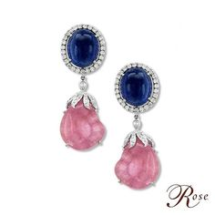 This shimmering pair of earrings has been crafted with Pink Tourmalines and…
