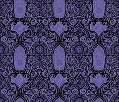 Black Lace Clock Face fabric by spellstone on Spoonflower - custom fabric