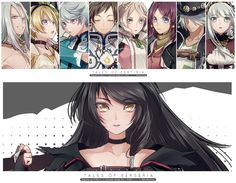 Tales of Series Episode Show your Passion that Illuminates the World and Discover your own reason to live. Velvet Crowe, Tales Of Berseria, Tales Of Zestiria, Tales Series, Art Folder, Manga, Buckets, Interesting Stuff, Videogames