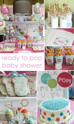 Ready to Pop Baby Shower - we love how many directions you can take this theme! #babyshower #readytopop