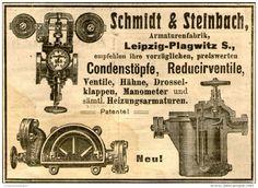 Original-Werbung/Anzeige 1905 - CONDENSTÖPFE / REDUCIRVENTILE  / SCHMIDT & STEINBACH - DAHLEN - ca. 100 x 65 mm