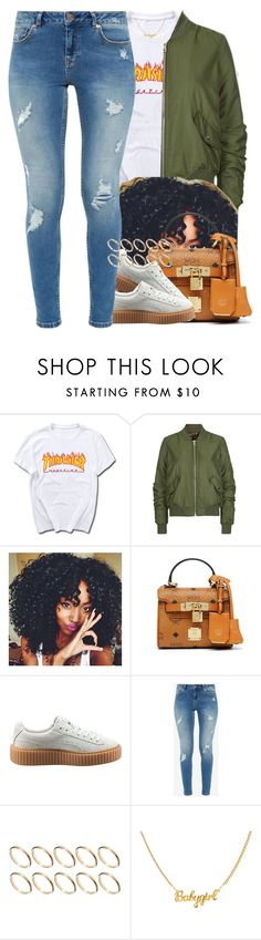 """28 October, 2016"" by jamilah-rochon ❤ liked on Polyvore featuring Topshop, MCM, Puma, Ted Baker and ASOS"