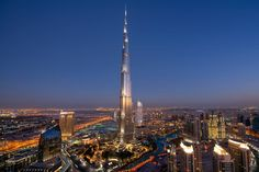 Burj Khalifa in Dubai - Featured on RueBaRue.  The world's tallest building, quietly modernist and reminiscent of the spiral minaret design in Islamic architecture.