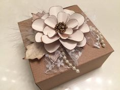 Rustic Embellishment Gift Package Topper Floral by CraftStuffDepot