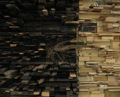 Countless Scraps   Amazing Sculpture by Leonardo Drew Photo